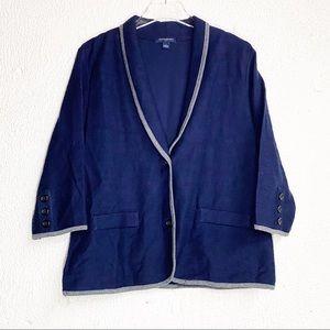 Banana Republic Blazer Jacket Cotton Blue Large